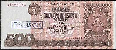 500 Mark from Germany 1985 Counterfeit Unc