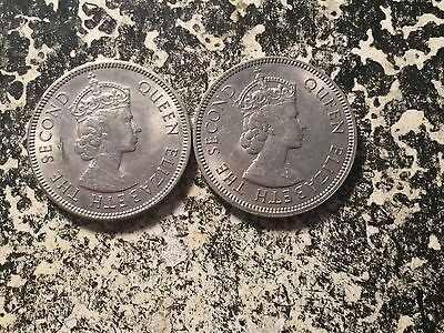 1973 Hong Kong 50 Cent (2 Available) High Grade! Beautiful! (1 Coin Only)