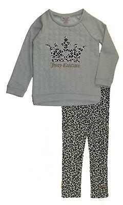 Juicy Couture Girls Oatmeal French Terry Top 2pc Legging Set Size 4