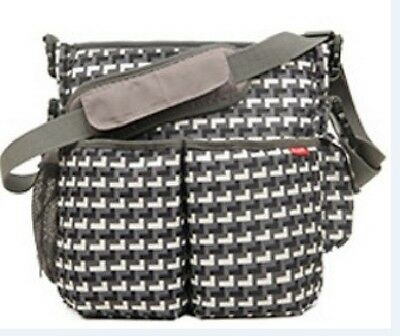 New BLOVE Baby Changing Bag / Diaper Bag with Stroller Strap Charcoal Dark Grey