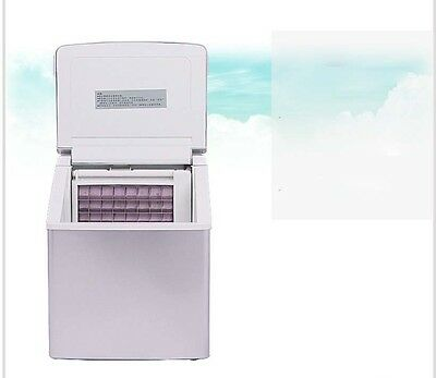 25KG/Day Commercial Ice Cube Maker Home  Business Portable Automatic Ice Machine