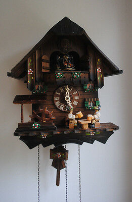 Vintage Schneider Musical cuckoo clock Spares Or Repairs