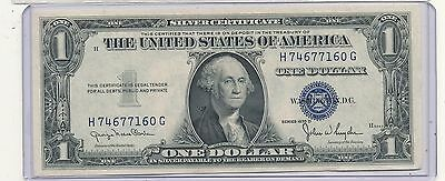 1935d $1 blue seal note wide