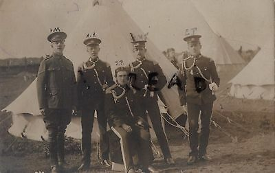 Soldier group Lancashire Hussars Yeomanry in full dress Named ? at Camp 1909