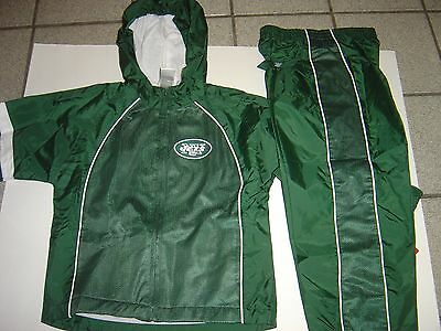 """New Boys (Youth) """"new York Jets"""" Hooded Sweatsuit Size 4T"""