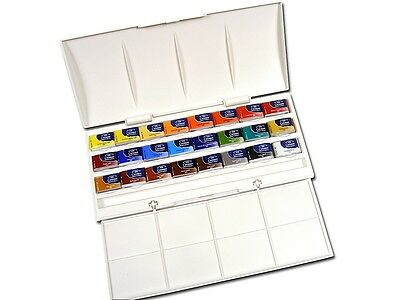 Winsor and Newton Cotman Watercolours - The Studio Set - 24 Whole Pans