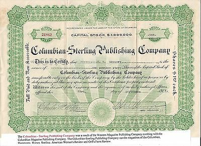 Stk-Columbian-Sterling Publishing Co. 1913  See images #6-7