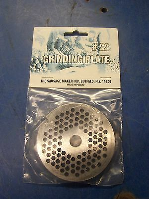 "New #22 Carbon Steel Plate W/3/16"" Holes Meat Sausage Grinder Chopper"