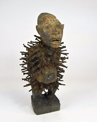 Bold Kongo Nkisi Nail fetish ~ African Art & Magic, African sculpture