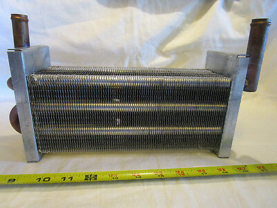"""12 1/4"""" x  5 3/8"""" x 3 3/8"""" Water to Air Heat Exchanger 3/4"""" Copper ports"""
