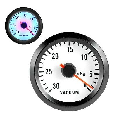 "CAR AUTO 2"" 52mm 30-10 In.Hg TURBO VACUUM POINTER GAUGE METER"