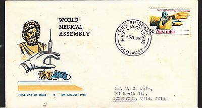 AUSTRALIA 1968 5c Medical  ADDRESSED FDC
