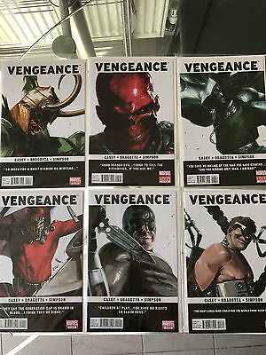 Marvel - Vengeance Complete Comic Set # 1 2 3 4 5 6 - Dell'otto Covers - NM B&B