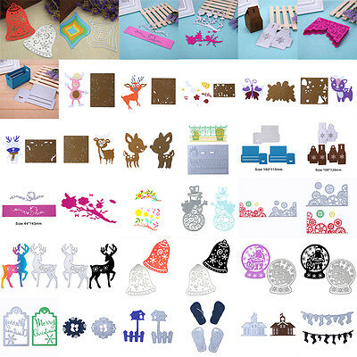 Metal Christmas Cutting Dies Stencil Scrapbook Paper Cards Craft Embossing DIY