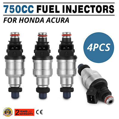 New 4x 750cc EV1 Fuel Injectors For Honda B16 B18 B20 D16 D18 F22 H22 H22A VTEC Car & Truck Air Intake & Fuel Delivery Parts
