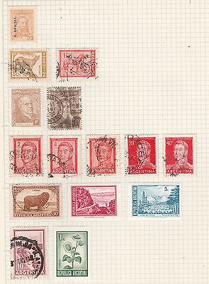 ARGENTINA COLLECTION Jose De San Martin, Sheep, Flowers etc USED #