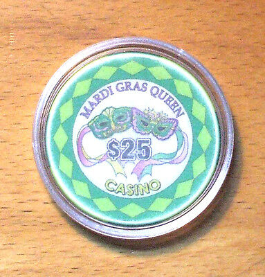 $25. MARDI GRAS QUEEN CASINO CHIP - Tarpon Springs, Florida