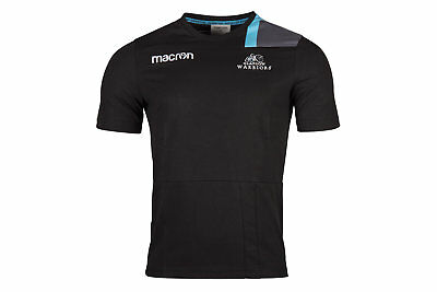 Macron Glasgow Warriors 2017/18 Travel Rugby T-Shirt Top Workout Sports Training