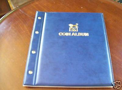 VST COIN ALBUM BLUE COLOUR with 6 Different Size PAGES - holds 283 Coins