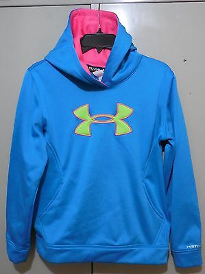 Youth Girls Under Armour Storm Loose Fit Blue Pullover Hoodie, Size YXL