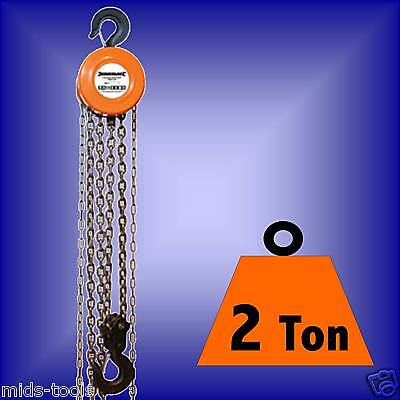 2 TON CHAIN HOIST BLOCK TACKLE ratchet engine winch 2t