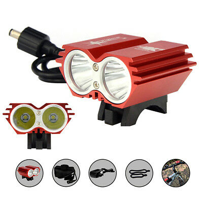 SolarStorm 5000LM CREE XM-L T6 Bicycle LED Headlamp+ Rechargable Battery+Charger