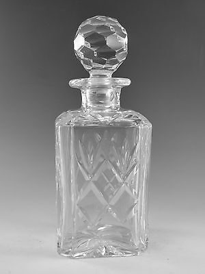 "Royal DOULTON Crystal - GEORGIAN Cut - Square Spirit Decanter - 9 3/4"" (1st)"