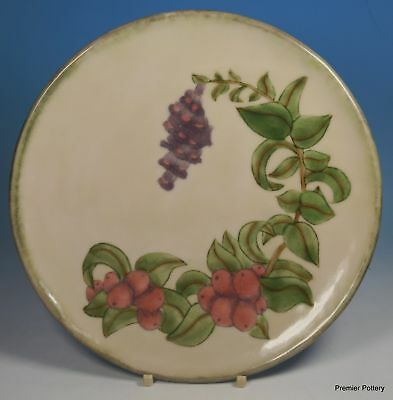 "Cobridge Stoneware Early 1998 Design Trial COWBERRY 8.25"" Decorative Plate"