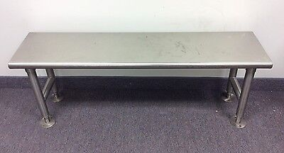 "Eagle CRB1248 Brushed 48"" x 12"" Stainless Steel Cleanroom Gowning Bench Solid"