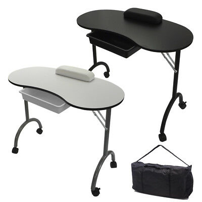 RayGar Portable Foldable Mobile Manicure Nail Art Beauty Salon Table Desk