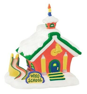 Dept 56 Grinch Village Who School  BRAND NEW