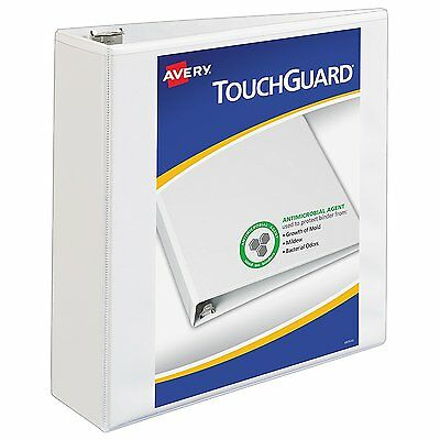 Avery Touchguard Antimicrobial Protection View Binder with 3-Inch Slant Ring, x