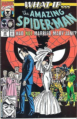 2 x What If Comics #20-21 Spider-man Married Black Cat not Mary Jane Marvel 1990
