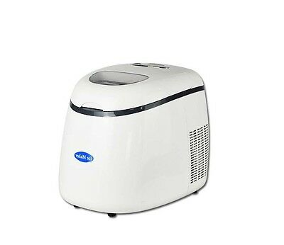 White New Small Commercial Coffee Ice Maker Portable Quick Kitchen Automatic &
