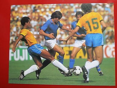 FOOTBALL repro PHOTO LUIZINHO FALCAO CONTI COUPE DU MONDE 1982  23/30