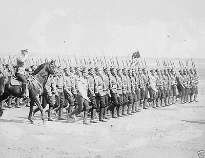 Russian infantry soldiers marching in formation World War I 8x10 Photo