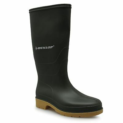 Dunlop Wellington Gum Boots Womens Green Rubber Rain Wellies