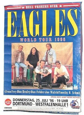 Vtg 1996 Eagles World Tour Dortmund Westfalen Germany Poster