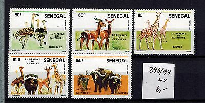 SENEGAL 890 - 894 **  Wildtiere