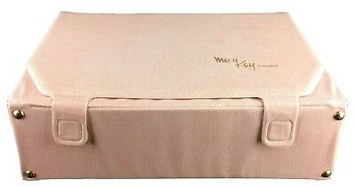 """Vintage 1980s Pale Pink Mary Kay Cosmetics Sales Samples Carrying Case 17x12 x5"""""""
