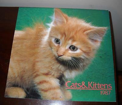 "1987 Cats & Kittens Wall Calendar ""clean"""