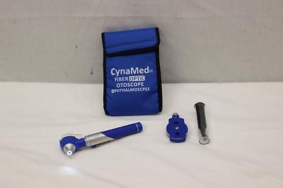 CynaMed Fiber Optic Otoscope Opthalmascope -Blue