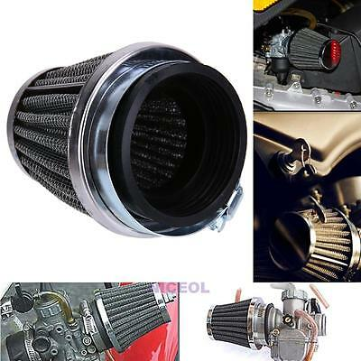 60mm 2 Layer Steel Net Filter Gauze Motor Motorcycle Clamp-on Air Filter Cleaner
