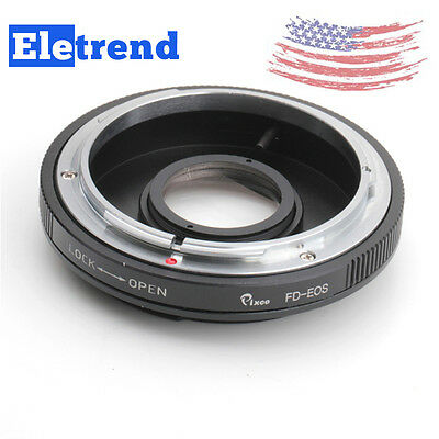 US FAST Lens Adapter Ring For Canon FD to EOS 5D 7D Mark II Glass Focus Infinity