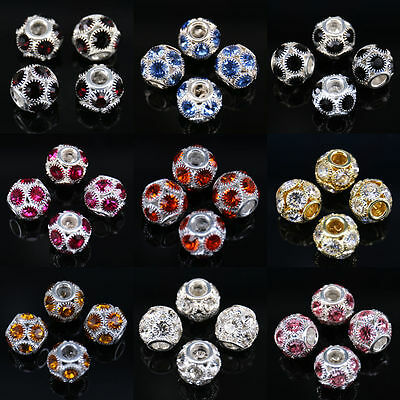 Lots 6mm/12mm Crystal Glass Ball Loose Spacer Bead Jewelry Finding DIY Accessory