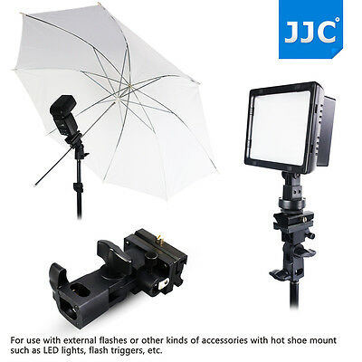 JJC Swivel Flash / Umbrella Holder with Mount Bracket Adapter For Light Stand