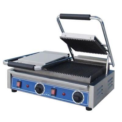 Globe - GPGDUE10 - Double Bistro Panini Grill with Grooved Plates