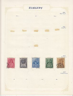 HUNGARY 1943 On Album Page Mostly VFU Items(b) removed for Shipping