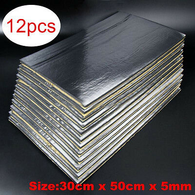 12 Sheets Car Van Sound Proofing Deadening Mat Insulation Closed Cell Foam 5mm