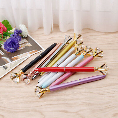 1X Metal Diamond Head Crystal Ball Pen Concert Pen Creative Pen Stationery Gift